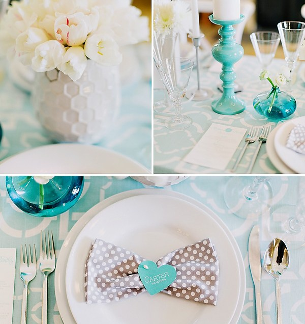Lovely Turquoise & Gray Wedding Inspiration Hostess With The