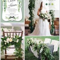 Lush Green Nature Themed Wedding Ideas