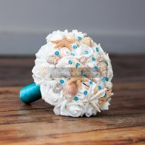 Malibu Blue Or Turquoise Seashell Wedding By Thebridalflower
