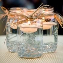 Mason Jar Centerpieces Floating Candles