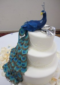 Masse's Pastries Peacock Wedding Cake