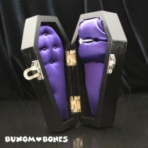Mini Gothic Wedding Coffin Jewelry Box Halloween