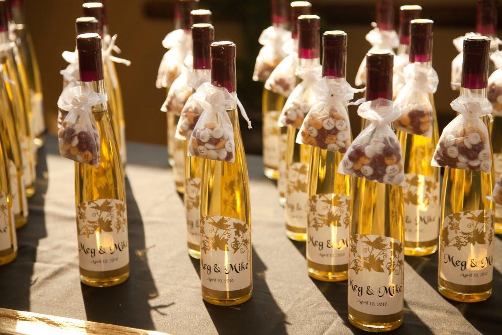 Mini Champagne Bottles Wedding Favors