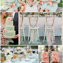 Mint Green And Peach Wedding Ideas
