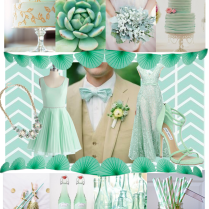 Mint Green Bridal Decorations