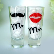 Mr And Mrs Personalized Shot Glasses Lip By Vinylthingzevents