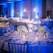 Navy Blue Wedding Table Decorations
