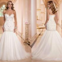 New Arrival Sexy Sweetheart Luxury Beaded Mermaid Wedding Dresses