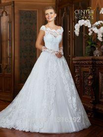 Noivas Vestido Casamento 2015 White Lace Princess Wedding Dresses
