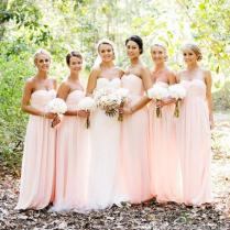 Online Buy Wholesale Peach Color Dresses For Wedding Party From