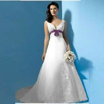 Online Buy Wholesale Purple And White Wedding Dresses From China