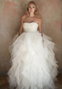 Organza And Tulle Sweetheart Ball Gown 2 In 1 Wedding Dress