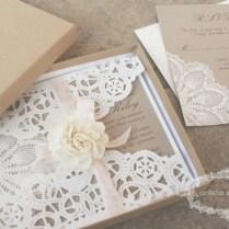 Paper Doilies Wedding Invitation