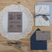 Paper Doilies Wedding Invitation