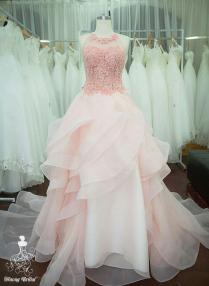 Pastel Pink Starlight Wedding Dress Bridal Gown Bridal Dress