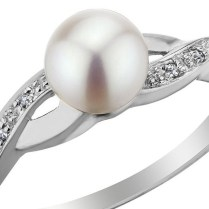 Pearl And Diamond Infinity Engagement Ring