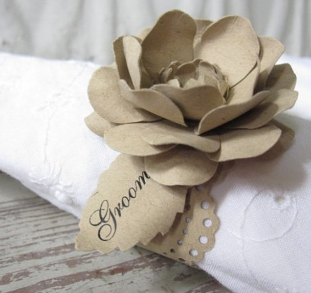 Picture Of Creative Napkin Rings Ideas As Pretty Wedding Table