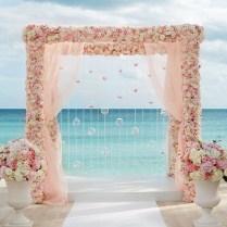 Pink Beach Wedding Reception