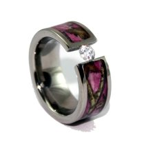 Pink Camo Wedding Rings With Real Diamonds Large 500 X 378 Pink