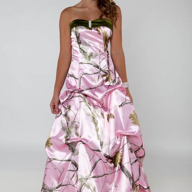 Pink camo wedding dress for Pink camo wedding dresses