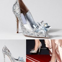 Popular Decoration Crystal Shoes Cinderella