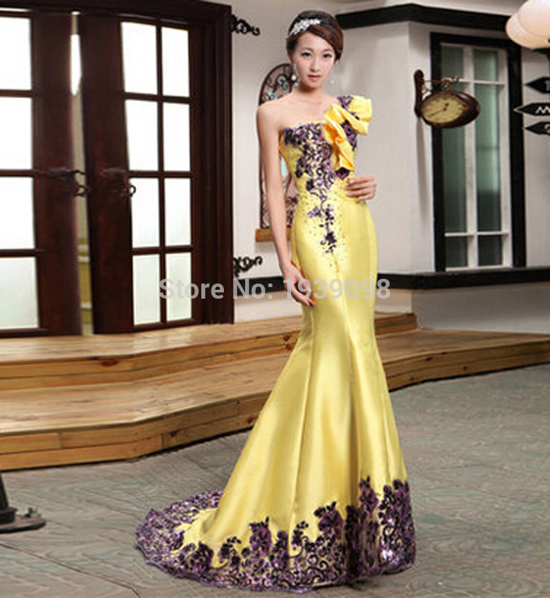 Yellow Evening Gowns Wedding