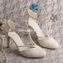 Popular Ivory Lace Wedding Shoes