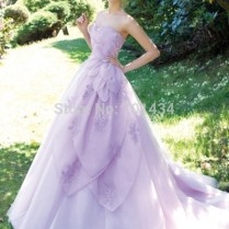 Popular Lavender Wedding Dress