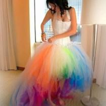 Popular Rainbow Wedding Dresses