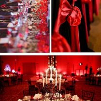 Powerful Red And Black Wedding Décor Ideas
