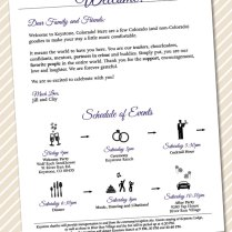 Printable Wedding Welcome Letter