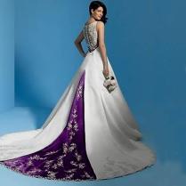Purple And White Wedding Dress Naf Dresses