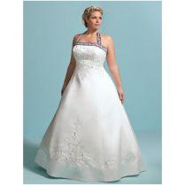 Purple And White Wedding Dresses Plus Size