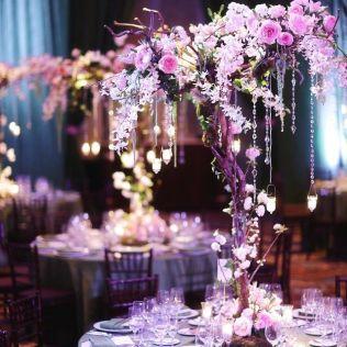 Purple Wedding Centerpieces Pictures