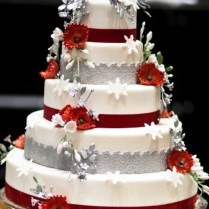 Red & White Wedding Cakes