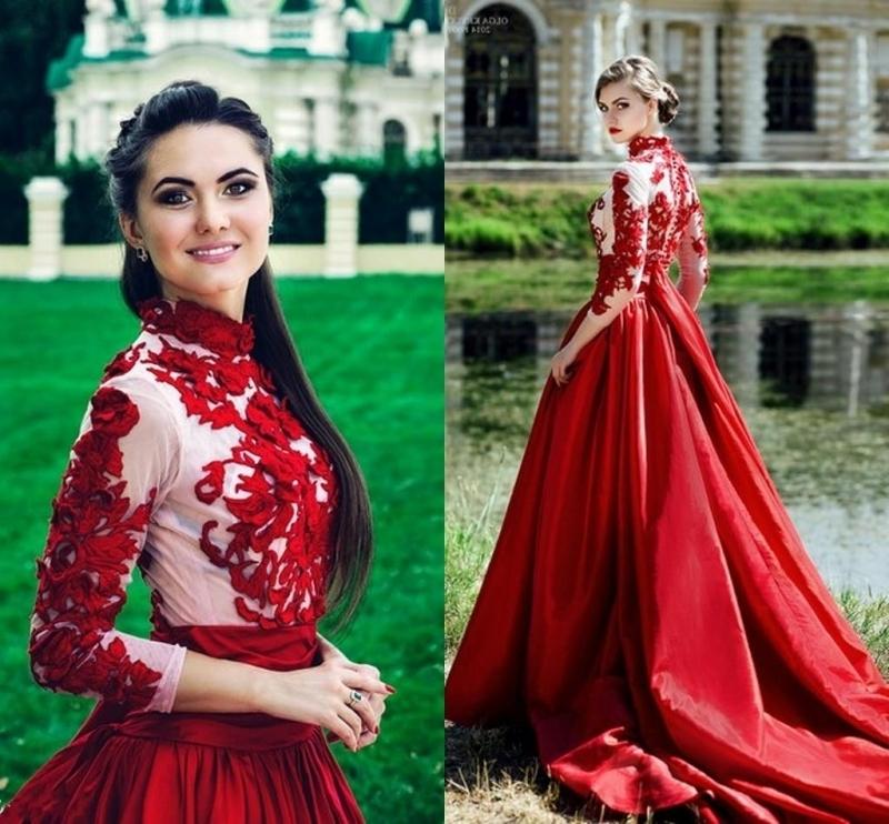Vintage Wedding Dresses Dallas: Red And Green Wedding Dress