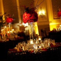 Red Floral Centerpieces