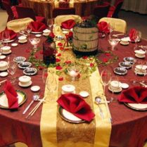 Red Lampion Fall Wedding Decorations Ideas