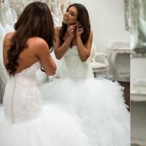 Romantic Mermaid Wedding Dress Sweetheart Corset Bodice Vestido