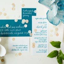 Romantic Teal, Blue, And White Wedding Ideas