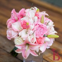 Roses Tulips Lilies Pink Tropical Bouquet Lg