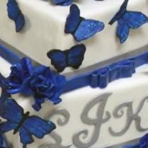 Royal Blue And Black Wedding Cakewedding Gallery