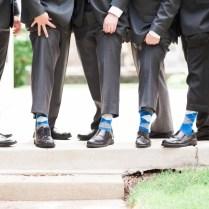 Royal Blue Charcoal Gray Light Grey Groomsmen Argyle Socks For Men