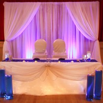 Royal Blue, White & Silver Accents Wedding Decor At The German
