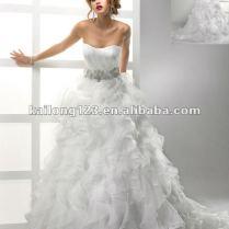Ruffled Organza Wedding Dress