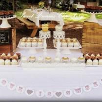 Rustic & Elegant Wedding Cupcake Display
