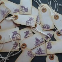 Rustic Book Theme Tags For Favors, Thank You, Gift Tags