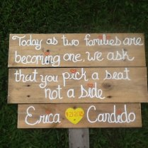 Rustic Wedding Sign Pick A Seat Not A Side Shabby By Pinensign