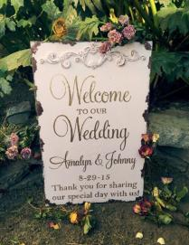 Rustic Welcome Wedding Sign, Blush And Gold 2453485