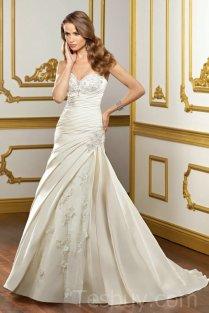 Satin Sweetheart Corset Simple Wedding Dresses Wholesale,satin